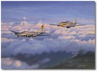 Eager Beaver by Jim Laurier (P-51, B-17)