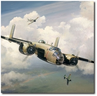 Engaging the Enemy by William S. Phillips (B-25 Mitchell)