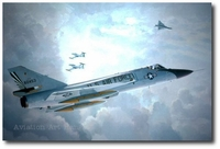 Farewell Old Friends by Keith Ferris (F-106 & T-33)