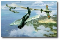 First Marine Ace by Roy Grinnell (F4F Wildcat)