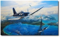 Gunfight Over Rabaul by Nicolas Trudgian (F4U Corsair)