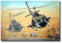 Guns Up by Joe Kline (UH-1 Huey)