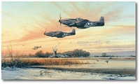 Home At Dusk by Robert Taylor (P-51)
