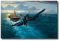 Hook Down and Homeward Bound by Stan Stokes (F4U Corsair)