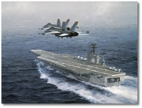 Hornets Over the USS Eisenhower by R.G. Smith (F-18)