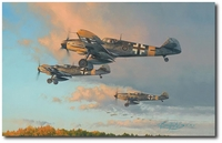 Hunters at Dawn by Robert Taylor (Me109)