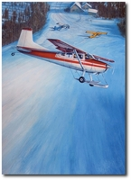 Iditarod Air Force by John Hume (Cessna 185)
