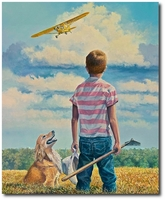 If Only I Could Fly by Rick Herter (Piper Cub)