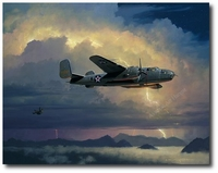Into the Arms of the Dragon by William S. Phillips (B-25 Mitchell)
