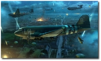Into the Night by Matt Hall (C-47 Skytrain)