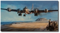 Iwo Jima - A Hard-won Haven by John Shaw (B-29)
