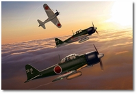 Japanese Navy A6M5 Zeros 221st NAG by Ron Cole