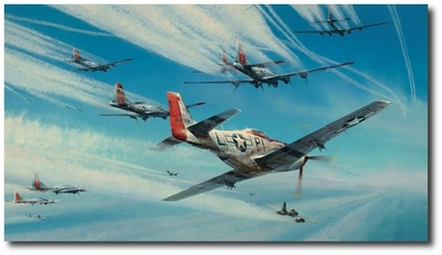 Jet Hunters by Robert Taylor (P-51, B-17, Me262)