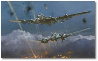 Lancaster Under Attack by Robert Taylor