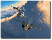 Lightning Heritage by K. Price Randel (F-35, P-38, Electric Lightning)