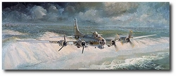 Little Willie Coming Home by Keith Ferris (B-17 Flying Fortress)