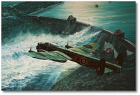 Low Pass Over the M�hne Dam by Anthony Saunders (Lancaster)