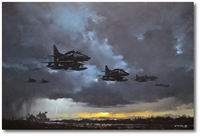 Marine A-4Ds Supporting Tanks by R.G. Smith
