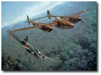 Mission Accomplished by Roy Grinnell (P-38 Lightning)