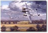 Mission Accomplished - Going Home by Ronald Wong (P-38 Lightning)