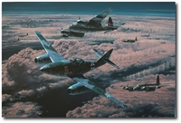 Night Hunters by Anthony Saunders (Me262, Mosquito)