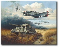 Normandy Tiger Hunt by Heinz Krebs (P-51 Mustang)