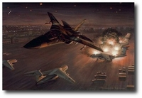 Operation El Dorado Canyon by Ronald Wong (F-111 Aardvark)