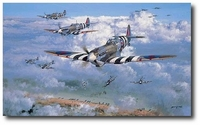 Over the Beaches by Philip West (Spitfire)