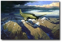 Over the Top of the World by Roy Grinnell (C-47 Skytrain)