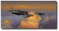 Pacific Morning: Black Sheep on the Prowl by Craig Kodera (F4U)