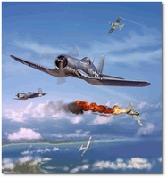 Pappy Boyington Over the Solomons by Jim Laurier (F4U Corsair)
