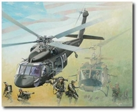 Passing the Torch by Joe Kline (UH-60 Blackhawk & UH-1 Huey)