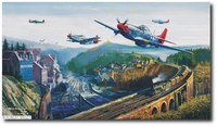 Red Tail Pass by Robert Bailey (P-51 Mustang)