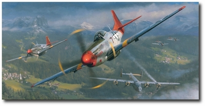 Return of the Red Tails by Matt Hall (P-51 Mustang)