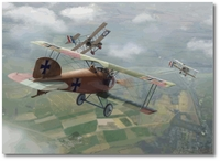 Richthofen Downs Lance Hawker by Jim Laurier (Albatros D.I)