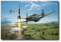 Rocket Hunters by Heinz Krebs (P-51D Mustang)