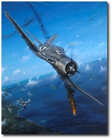 Semper Fi Skies by John Shaw (F4U Corsair)