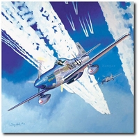 Serenade in Blue by Troy White (P-51 Mustang)