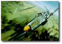 Showdown Over Berriere by Roy Grinnell (P-51 Mustang)