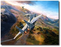 Showdown Over the Bekaa by Rick Herter (F-15 Eagle)