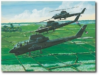 Snakes on Patrol by K. Price Randel (AH-1 Cobra)