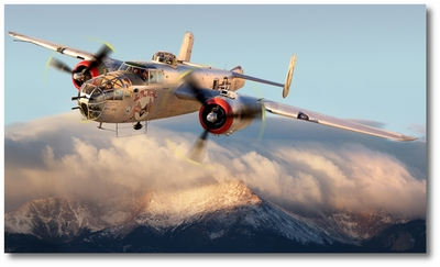 """Solo"" B-25 Mitchell by Larry McManus"