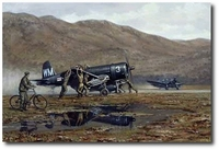 Somewhere in Korea by Ronald Wong (F4U Corsair)