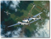 Splitting a Pair by William S. Phillips (P-38 Lightning)