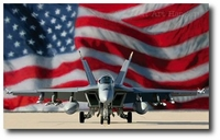 Stars and Stripes Forever by Dru Blair (F/A-18 Super Hornet)