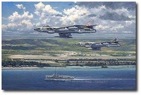 Storm Clouds Over New Guinea by Ronald Wong (Hawker Hunter)