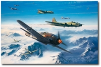 Storm Force by Nicolas Trudgian (Fw190, B-17)