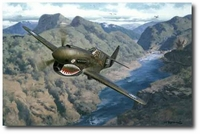 The Decisive Moment by Roy Grinnell (P-40 Warhawk)