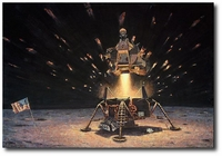 The Eagle is Headed Home by Alan Bean (Apollo)