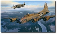 The Guardian by Nicolas Trudgian (B-17, Me109)